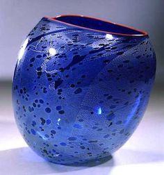 Dale Chihuly - Cobalt Blue Basket