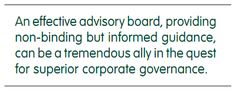 THE ROLE AND VALUE OF AN EFFECTIVE ADVISORY BOARD - Ivey Business Journal