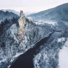 """""""Perched high above the river and trees, Orava Castle is one of the most impressive castles I've ever seen. Amazing Nature Photos, Most Beautiful Images, Beautiful Places, Best Countries To Visit, Cool Countries, Bratislava, Tivoli Gardens, Winter Scenery, World Images"""