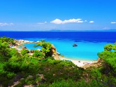 Paradise bay beach in Thasos