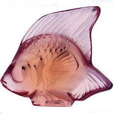 Lalique Fish - Opaque Pink Crystal Brand New In Manufacturer Box
