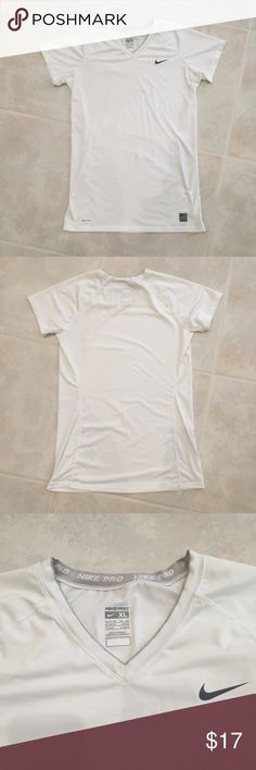 Nike Pro Dri Fit Athletic Shirt Nike Pro Dri Fit athletic shirt. Excellent condition. Size XL. Synthetic stretch fabric. Nike Tops