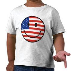 Patriotic USA Smiley Face Shirt