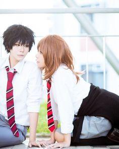 Anime : Ao Haru Ride Character : Mabuchi Kou & Futaba Yoshioka Coser : Futaba Yoshioka KK(KK) & Mabuchi Koi (EBi(蝦))