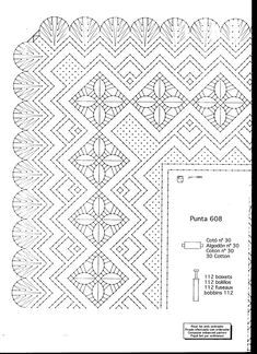 Archivo de álbumes Bobbin Lacemaking, Bobbin Lace Patterns, Parchment Craft, Lace Making, Yarn Crafts, Crochet, Album, Embroidery, Stitch