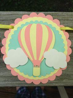 Bandera de aire caliente globo bebé ducha bebé ducha banner