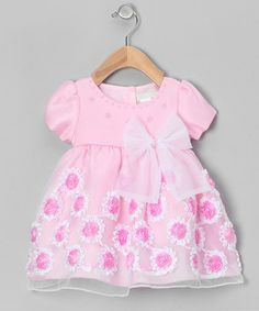 Take a look at this Pink Frill Flower Dress - Infant & Toddler by S Square on #zulily today!