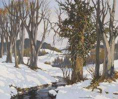 Charles Oppenheimer, R.S.A., R.S.W. GALLOWAY WOODLANDS IN WINTER