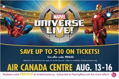NEW #MarvelUniverseLive #PromoCode for #TO #YYZ #toronto Click the pic to get the details #marvel