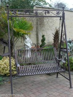 Metal Victorian Design Swinging Hammock Garden Swing Bench Seat Lounger 1154