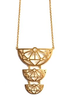 Fanfare Necklace: Matte Gold  :)