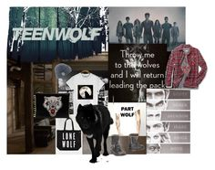 """""""Teen Wolf  ♥ ♥ ♥"""" by pocketchangetees ❤ liked on Polyvore featuring Urban Renewal, Mr. Wolf, Coal, C MPL T UNKN WN and TeenWolf"""