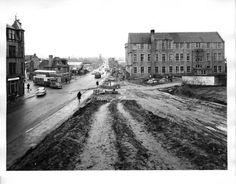 Looking North prior to the construction of the Mounthooly roundabout. Silver City, My Family History, North Sea, Aberdeen, Old Pictures, New York Skyline, Scotland, The Past, Street