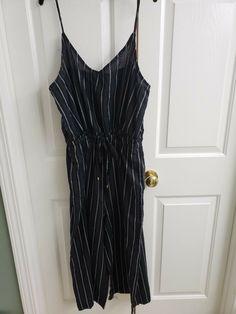 5bf96d63e64f Women s plus sizes Size XL jumpsuit Romper Black striped straps waist belt   fashion  clothing