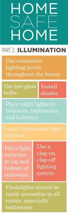 Home Safe Home: Tips to making your home safer for those you care for. Pt.2 Illumination.