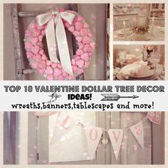 Top 10 Dollar tree Valentines Decor and more! Valentine dollar tree decor ideas – Debbiedoo's