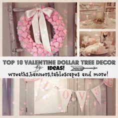 Dollar Tree Valentines Decor Ideas | Budget Crafts