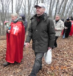 Doing the Stations of the Cross on the Greensides Farm, in Marmora
