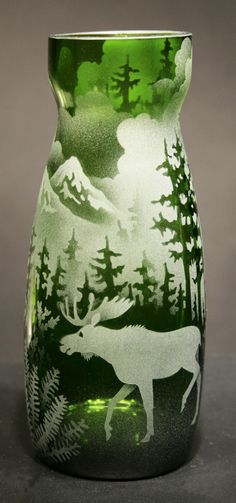 7166c67da2ad Moose Vase by Jaguar Art Glass. American Made. See the artist s work at the  2014 Buyers Market of American Craft