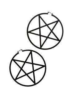Blackheart Jumbo Pentagram Hoops