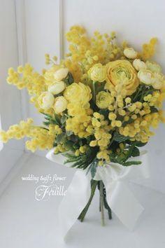 Wedding flowers greenery green for 2019 Yellow Flower Arrangements, Yellow Bouquets, Yellow Wedding, Floral Wedding, Green Flowers, Beautiful Flowers, Arte Floral, Jolie Photo, Plantation