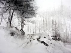 La trace - Painting,  60x80 cm ©2007 par Reine-Marie PiNCHON -  Peinture