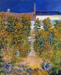 Monet's Garden at Vétheuil. 1881. Claude Monet