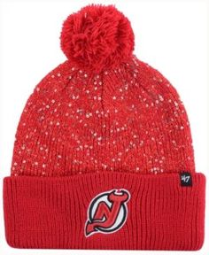 '47 Brand Women's New Jersey Devils Glint Knit Hat - Red Adjustable