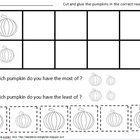 This is a free pumpkin bar graph created by Christina Aronen. Students compare pumpkins by size and cut and glue them to the graph.Graphics are b...