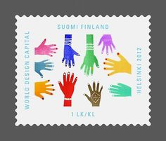 "Finnish stamp ""Mix"" by Varpu Kangas for Helsinki, World Design Capital 2012"