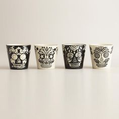 One of my favorite discoveries at WorldMarket.com: Muertos Shot Glasses, Set of 4