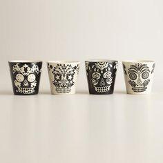 One of my favorite discoveries at WorldMarket.com: Muertos Shot Glasses, Set of 4