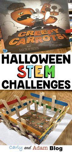 The Best Halloween Read Alouds and STEM Challenges - Halloween STEM Challenges and STEM Activities for Elementary Kids - Goal Setting Activities, Space Activities For Kids, Library Activities, Steam Activities, Halloween Activities, Learning Activities, Halloween Kids, Kindergarten Stem, Preschool