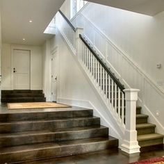 Wide hallway/steps...Traditional Staircase by Christian Gladu Design