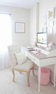 bureau avec mobilier de style shabby