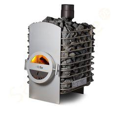 FinTec Holz-Saunaofen Lora Robust Diy Sauna, Barbacoa, Wood Burning Heaters, Sauna Heater, Outdoor Sauna, Stove Fireplace, Heating And Cooling, Cool Designs, Woodburning