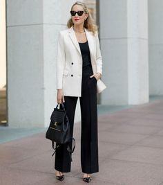office look mochila blazer street style