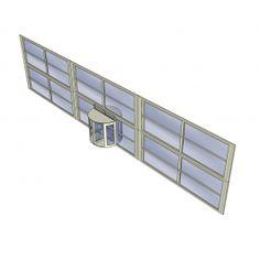 Revolving door and curtain wall Sketchup model