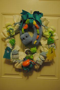 Diaper Baby Wreath- It's a Boy.
