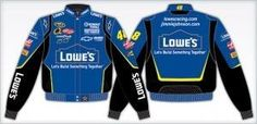 Jimmie Johnson #48 Lowe's Adult Color Nascar Twill Jacket by RacingGifts. $117.00. This is a 2008 Jimmie Johnson Adult Black Twill Jacket Jeff Hamilton Designer Jacket. Since 1988, JH Design and Jeff Hamilton have been manufacturing the highest quality jackets in the world. Since their inception, quality has been the number one focus when producing a product for their customers JH Design offers a 100% cotton Heavy Brushed Twill Uniform Jacket with shoulder pads, Satin li...