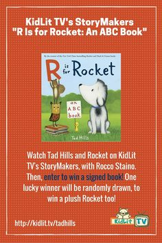 "Eight years later, ""R Is for Rocket"" is the sixth book in the line, and features a surprise guest from Tad's Duck & Goose series."