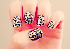 Black & Gold Leopard Nail Wraps by SoGloss on Etsy, $8.00