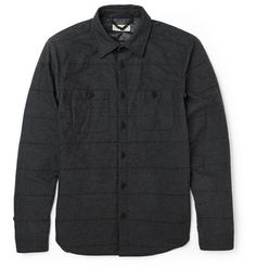 Burberry Brit's lightly padded cotton-flannel shirt jacket is ideal when you need extra insulation but it isn't yet cold enough for a winter coat. The regular cut is streamlined, meaning this piece will work well solo or as an extra layer. The charcoal hue makes it one of the most versatile items in your autumn wardrobe.