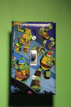 Teenage Mutant Ninja Turtles TMNT Light Switch by ComicRecycled, $7.99  I want this