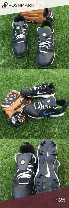 Slightly Worn Softball Nike Cleats Slightly Worn Women's Nike Softball Cleats. Great for playing softball in. |Size 8 Women| Black Nike Shoes Athletic Shoes