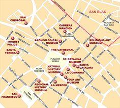 city map of cusco peru | Map of Cusco