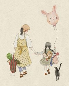 Pin by jessica colaluca, design seeds on illustrated color in 2019 Fantasy Boy, Sweet Drawings, Buch Design, Children's Book Illustration, Food Illustrations, Cute Animal Videos, Design Seeds, Korean Artist, Cute Images