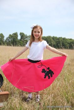 Cute Girls Size Small 5-6 Prancing poodle skirt Your choice of Color