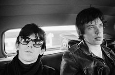 Keith Richards and Mick Jagger, Limo - 20x16 Silver gelatin, Limited Edition 50 24x20 Silver gelatin, Limited Edition 50 40x30 Silver gelatin, Limited Edition 25.   Veiw the Gerad Mankowitz Collection http://www.rockstargallery.net/gered-mankowitz #rollingstones #geradmankowitz #rockstargallery