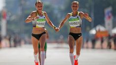 Atletismo nas Olimpíadas: Por que as gêmeas alemãs que chegaram de mãos dadas na maratona despertaram polêmica no mundo esportivo